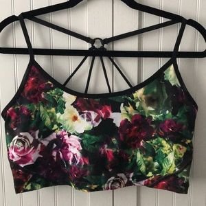 Betsey Johnson Floral Sports Bra - Size L